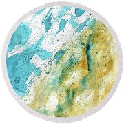 Dynamics Of Water Round Beach Towel