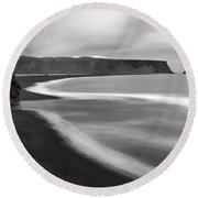 Dyrholaey Pinnacle Overview, Iceland, 1752 Round Beach Towel