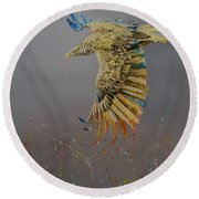 Eagle-abstract Round Beach Towel