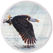 Eagle Catch Round Beach Towel