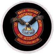 Eagle Dustoff Round Beach Towel