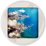 Eagle Eye Of An Ocean Bay Round Beach Towel
