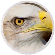 Eagle Eye Round Beach Towel