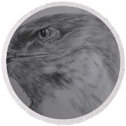 Eagle Eyed. Round Beach Towel by Cynthia Adams