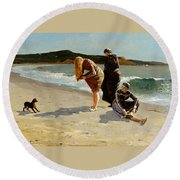 Eagle Head Manchester Massachusetts Round Beach Towel