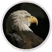 Eagle Profile 1 Original Photo Round Beach Towel