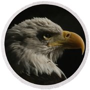 Eagle Profile 3 Round Beach Towel