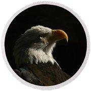 Eagle Profile 4 Round Beach Towel