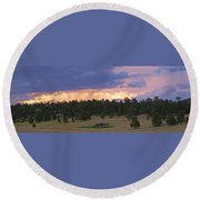 Eagle Rock Estes Park Round Beach Towel