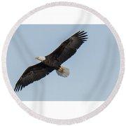 Eagle Soar Round Beach Towel
