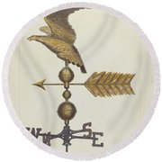 Eagle Weather Vane Round Beach Towel