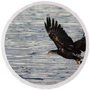 Eagle_7894 Round Beach Towel
