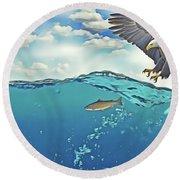 Eaglenfish Round Beach Towel