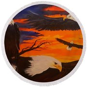 Eagles Are Back                 76 Round Beach Towel