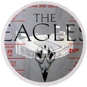 Eagles Concert Ticket 1980 Round Beach Towel
