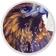 Eagle's Head Round Beach Towel