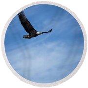 Eagles On The Fox - 3 Round Beach Towel