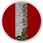 Eagles Point Round Beach Towel