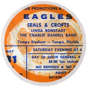 Eagles Tampa Stadium 1975 Round Beach Towel