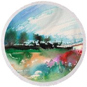Early Afternoon 13 Round Beach Towel