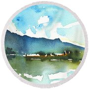 Early Afternoon 14 Round Beach Towel