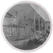 Early Aviation Round Beach Towel
