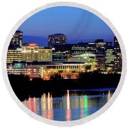 Early Evening In Hartford Round Beach Towel