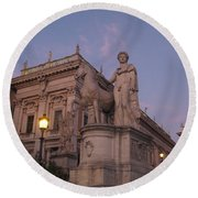 Early Evening Rome Number Two Round Beach Towel