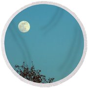 Early May Full Moon Round Beach Towel