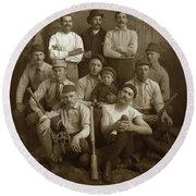 Early Monterey Baseball Team Circa 1895 Round Beach Towel