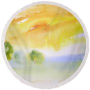 Early Morning 02 Round Beach Towel