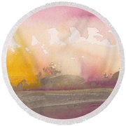 Early Morning 03 Round Beach Towel