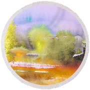 Early Morning 06 Round Beach Towel