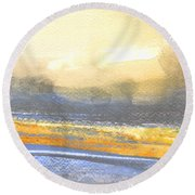 Early Morning 15 Round Beach Towel
