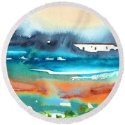 Early Morning 17 Round Beach Towel