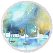 Early Morning 19 Round Beach Towel