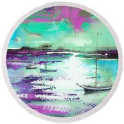 Early Morning 20 Round Beach Towel