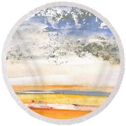 Early Morning 27 Round Beach Towel