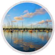 Early Morning 8768 Round Beach Towel