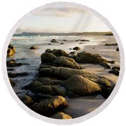 Early Morning At Friendly Beaches Round Beach Towel