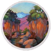 Early Morning At Indian Canyon Round Beach Towel