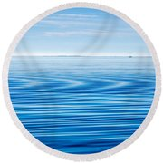 Early Morning Blues Round Beach Towel