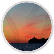 Early Morning Clouds  Round Beach Towel