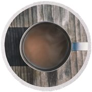 Early Morning Coffee  Round Beach Towel by Scott Norris