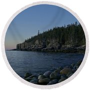 Early Morning In Acadia Round Beach Towel