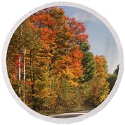 Early Morning In Door County Round Beach Towel
