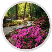 Early Morning In Honor Heights Park Round Beach Towel
