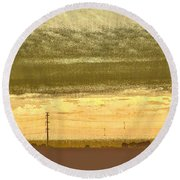 Early Morning In The Heartland Round Beach Towel