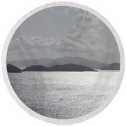 Early Morning Island View Round Beach Towel