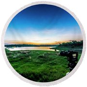 Early Morning Light Capture Round Beach Towel